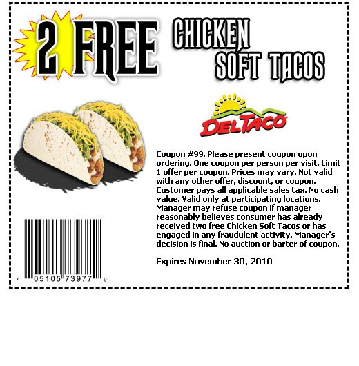 Official Del Taco (R) website: Find locations, get coupons and Del Taco info, join the Raving Fan e-Club, check out the menu & nutrition info, explore Del Taco careers & franchising.