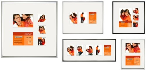 bilderrahmen von ramendo galerierahmen mit passepartouts f r mehrere fotos. Black Bedroom Furniture Sets. Home Design Ideas