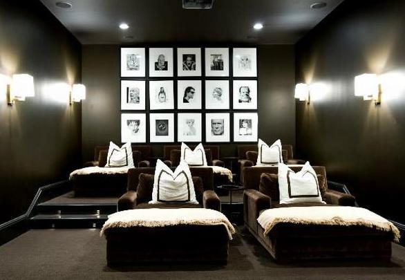 blue ribbon studio movie room. Black Bedroom Furniture Sets. Home Design Ideas