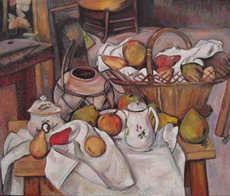 Il Tavolo Da Cucina.Sauvage27 Il Tavolo Di Cucina The Kitchen Table Paul Cezanne