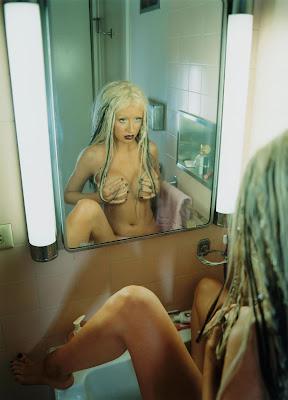 christina aguilera nudity