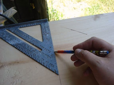 Easy way to make wooden letters.
