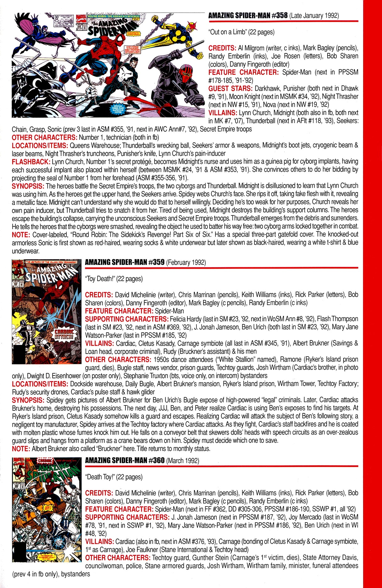 Read online Official Index to the Marvel Universe comic -  Issue #8 - 19