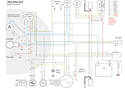 bsa a50 wiring diagram suzuki a50 wiring diagram