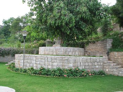 A beautiful Buddha Statue in the garden of the Ananda Buddha Vihara, Buddha Temple, Hyderabad