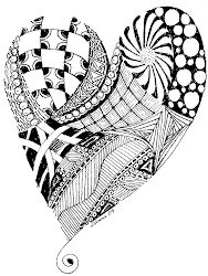 zentangle zentangles coloring doodle pages heart doodles adult zen drawings patterns tangle google designs colouring og involved challenge week using
