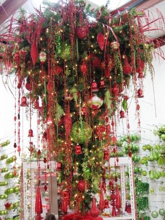 Sheer Serendipity: Upside down Christmas tree?