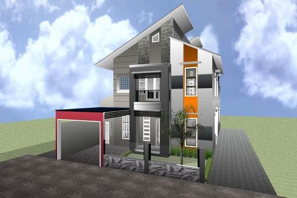 Rumah Minimalis 8 X 15 | Denah rumah 2 lantai ukuran 6  15