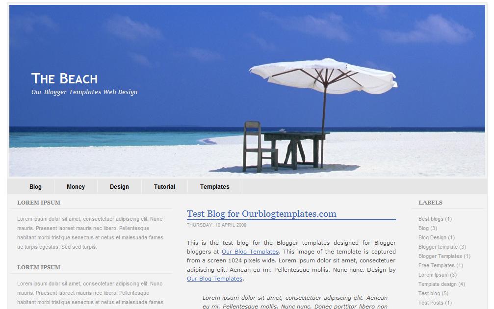 Our Blogger Templates Blogger Templates The Beach