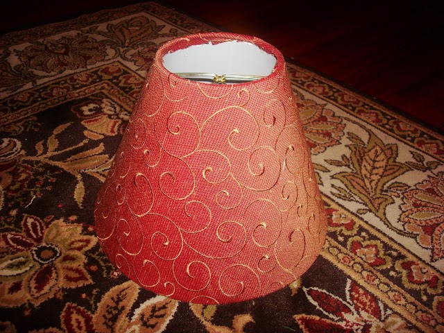 update lampshade with fabric
