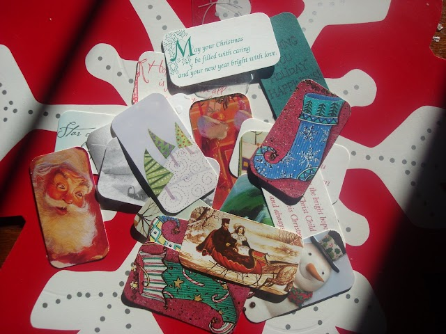 Gift tags out of Christmas cards