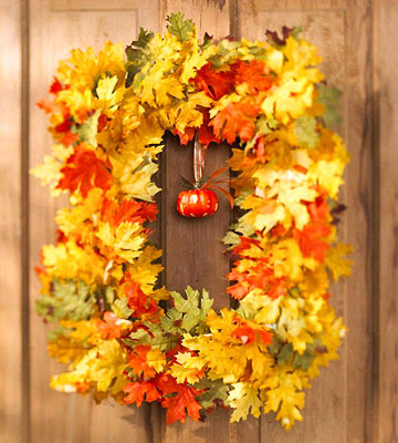 rectangle fall leaf wreath