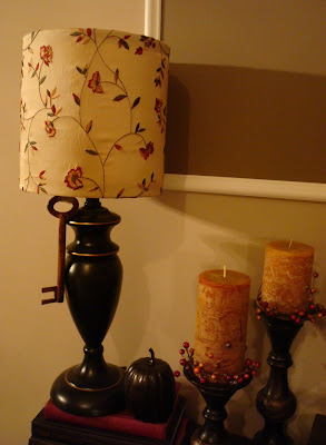 Easy lamp makeover with fabric