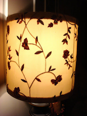 Covering old lampshade with fabric