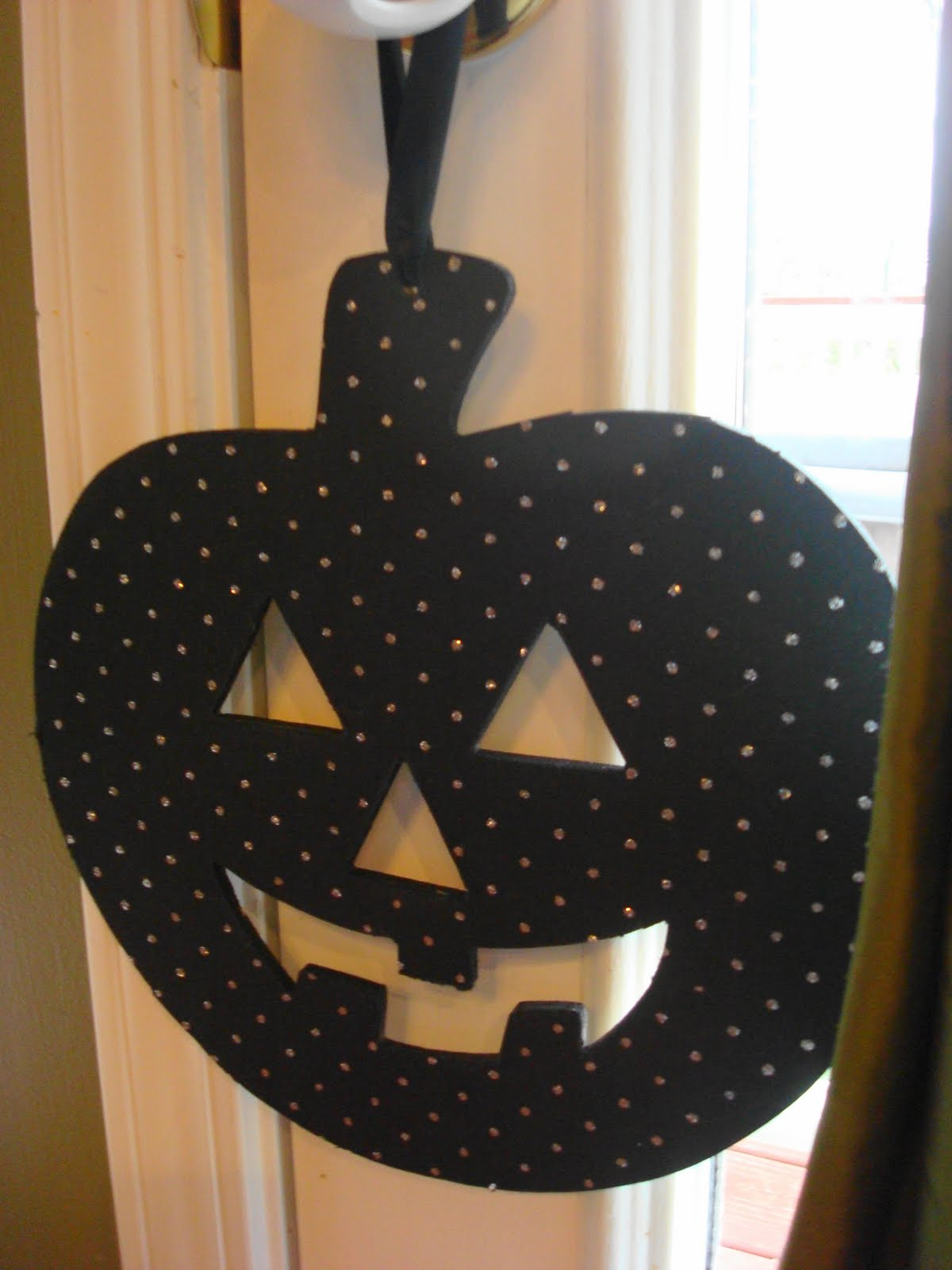 Cover Halloween cut outs with paper