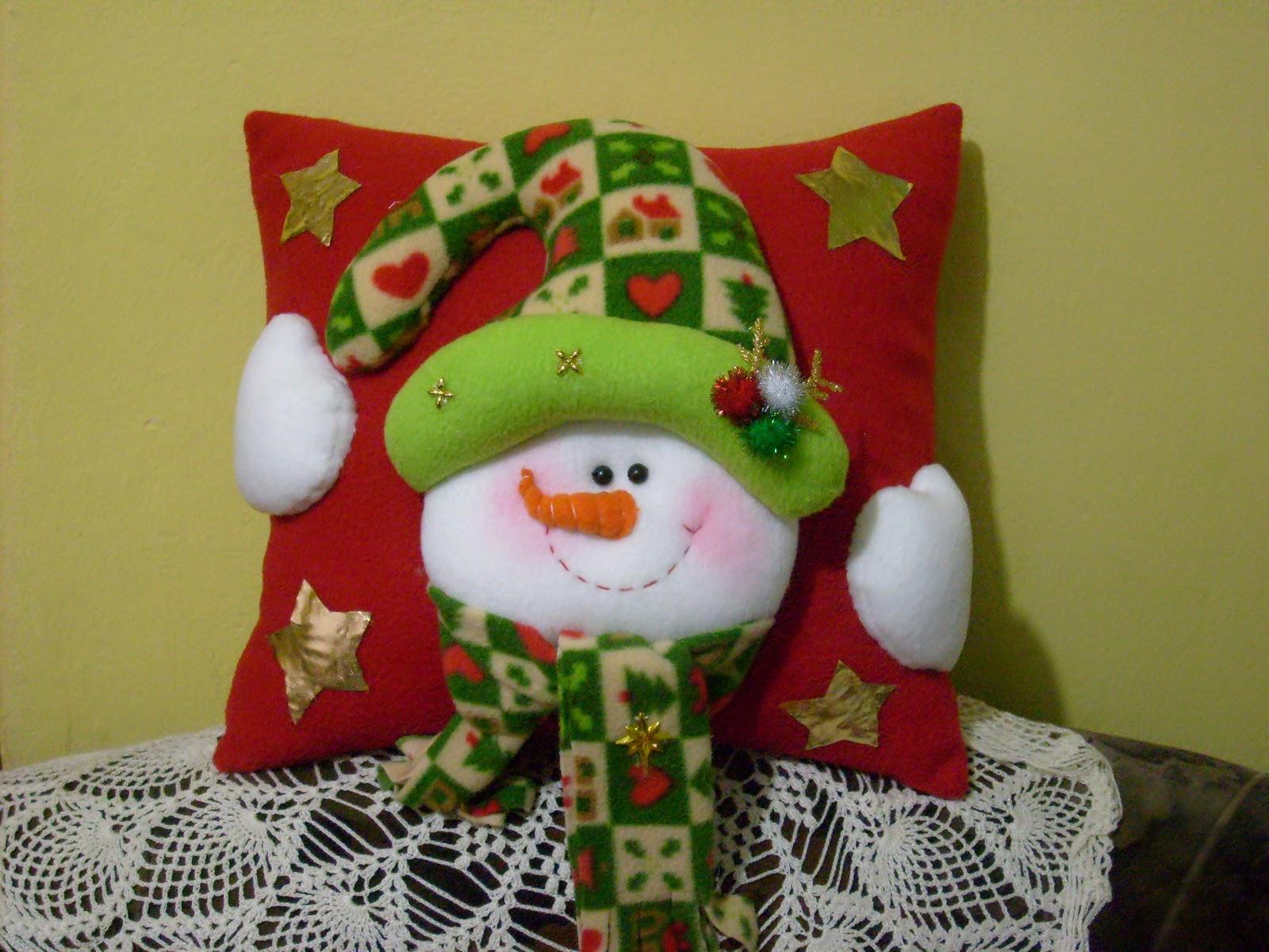Manualidades luna clara almohadones navide os - Manualidades de bolas de navidad ...