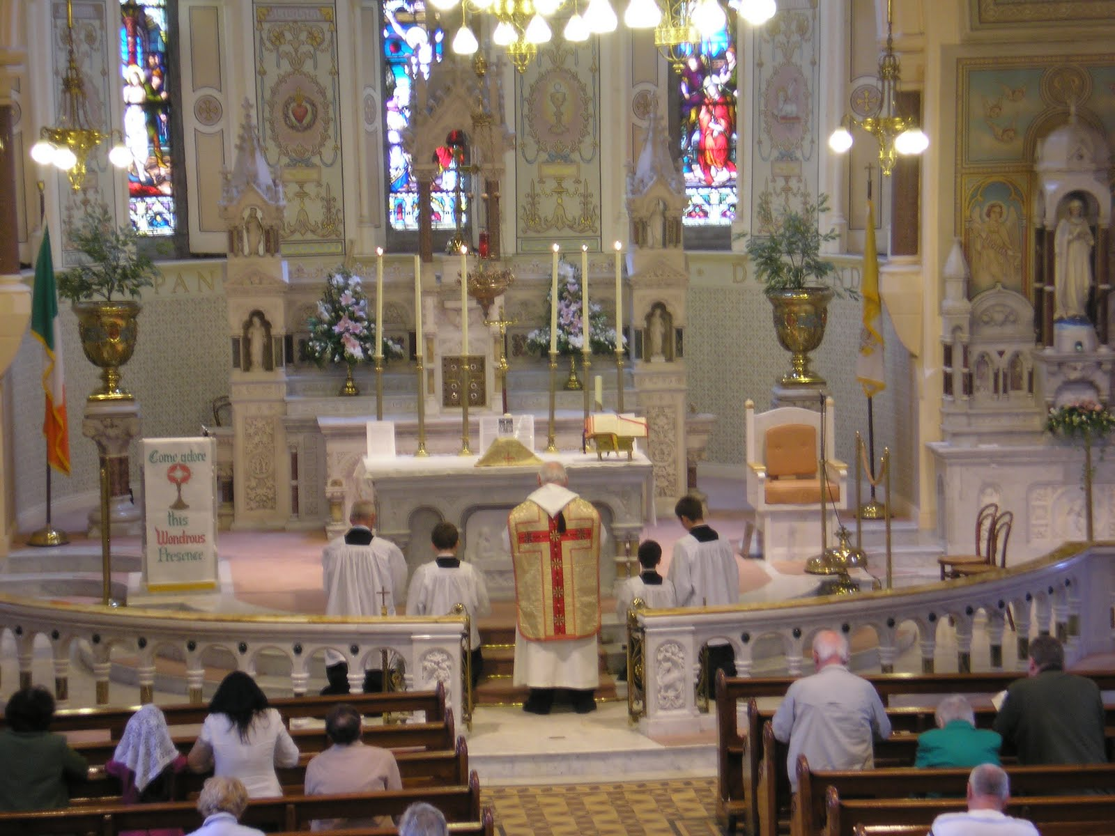 Lovely Free Church Hymns #1: Abbeyleix+Church+Latin+Mass+Prayers.JPG