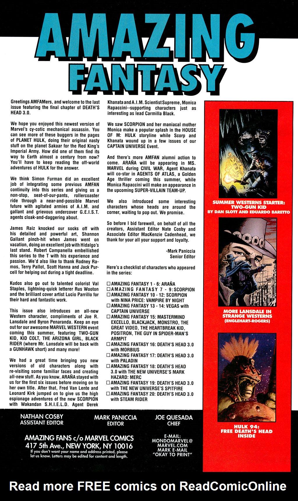 Read online Amazing Fantasy (2004) comic -  Issue #20 - 32