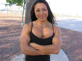 female muscle asian Nude
