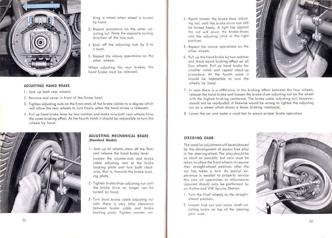 Volks Clube do Ceará: Manual Fusca 1954 (Inglês)