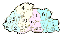 Bhutan districts