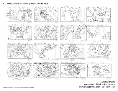 Andrew Marks Online Art Portfolio - commercial storyboards