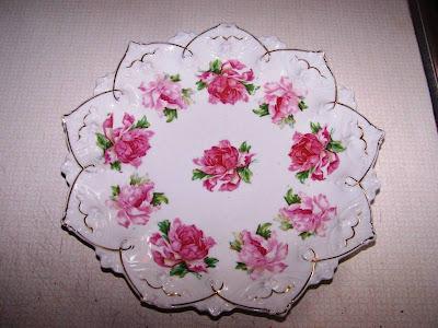 Rosenreslis Traum Blüten Auf Barockem Porzellan