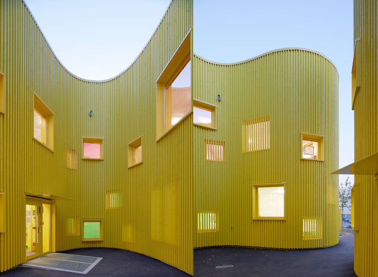 The Building Was Made In Influenza A virus subtype H5N1 Factory And Assembled On Site In Just Three New Home Ideas- Astounding Organic Nursery School