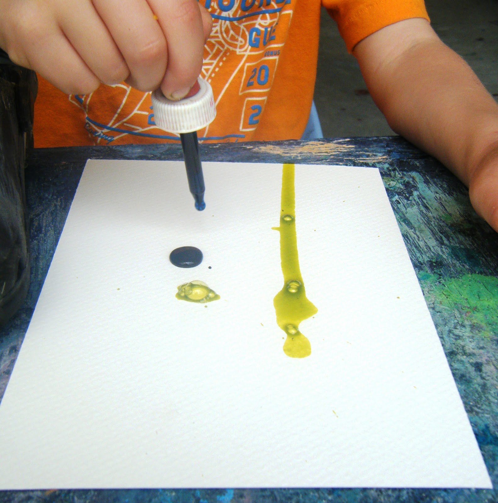 Let The Children Play Eye Dropper Paintings