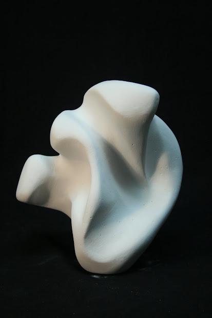 Abstract Plaster Sculpture L. Art