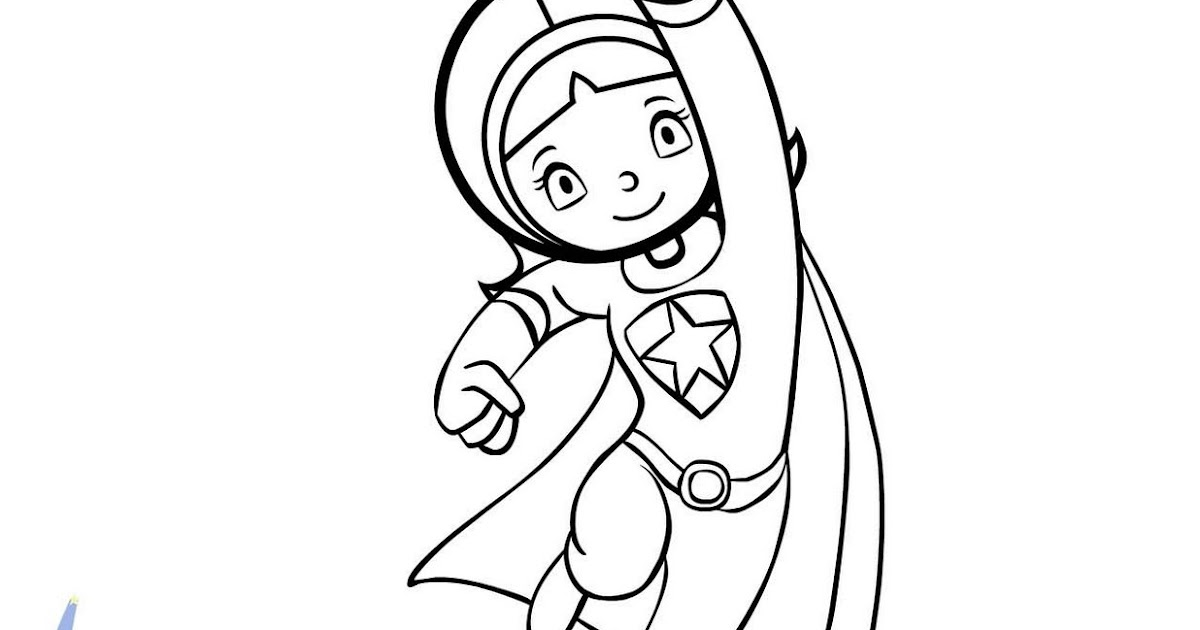 wordgirl coloring pages | CHICA SUPERSABIA (WORDGIRL) PARA COLOREAR