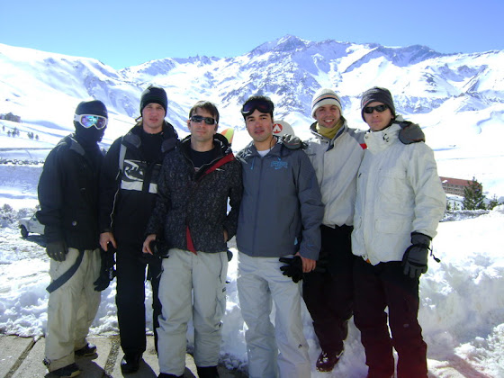 El Team de Snowboard 2008 en las Leñas