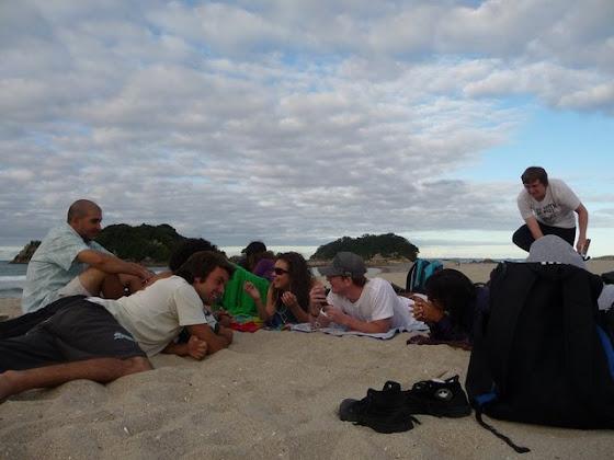 Aquí estamos todos en la playa