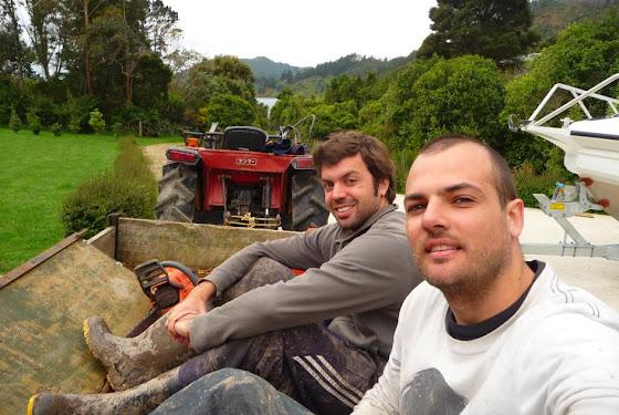 Aquí estamos Marcos y yo en la casita de Picton