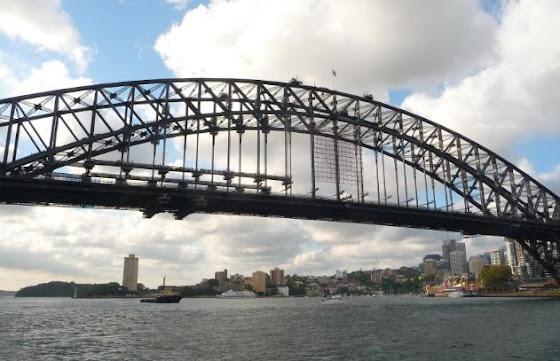 Aquí el puente que se llama: Sydney Harbour Bridge, que vi durante el City Tour por Sidney