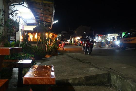 Una vista de una de las calles Huay Xai
