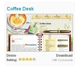 blog template, coffee desk