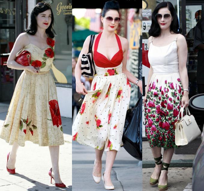 06b3b9062 Sempre femenina, no salto alto. Vestidos dominam o guarda-roupa da artista  e são sempre modelos que marcam bem a cintura.