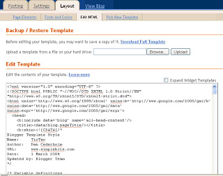 template for blogger html code - the daily apple february 2008