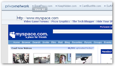 Unblock Censored Websites (MySpace, YouTube, Facebook)
