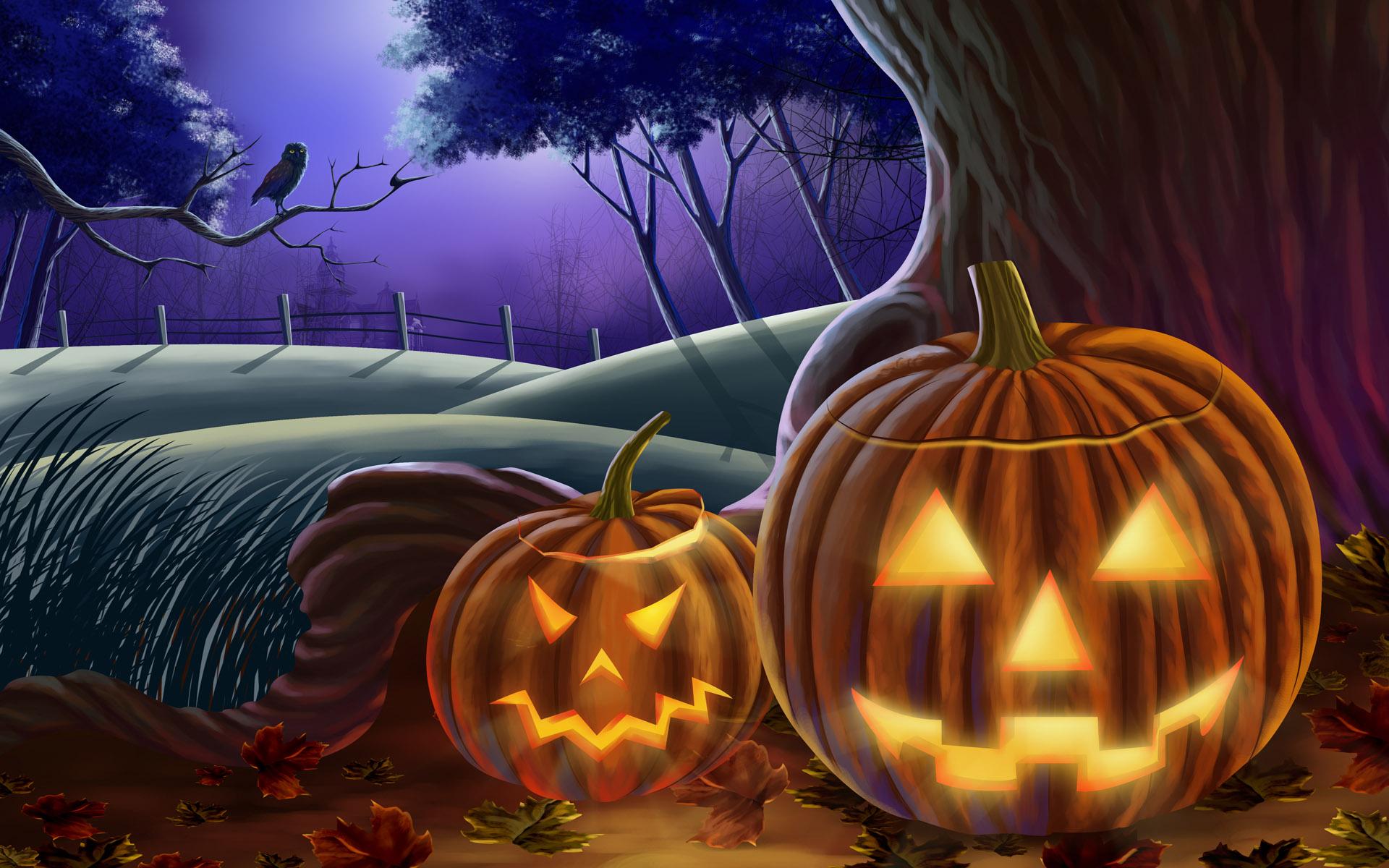 Halloween Widescreen Crazy Pumpkins Wallpapers X