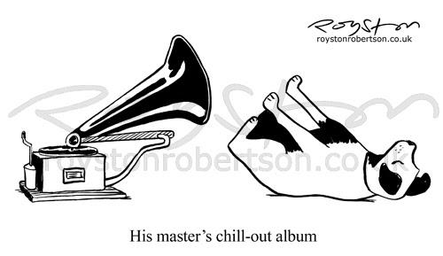 Royston Cartoons: Music cartoon: Taking it easy