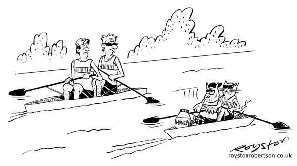 Royston Cartoons Rowing Cartoon Size Matters