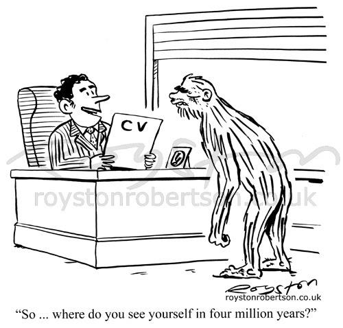 Royston Cartoons: Evolution cartoon: The job interview
