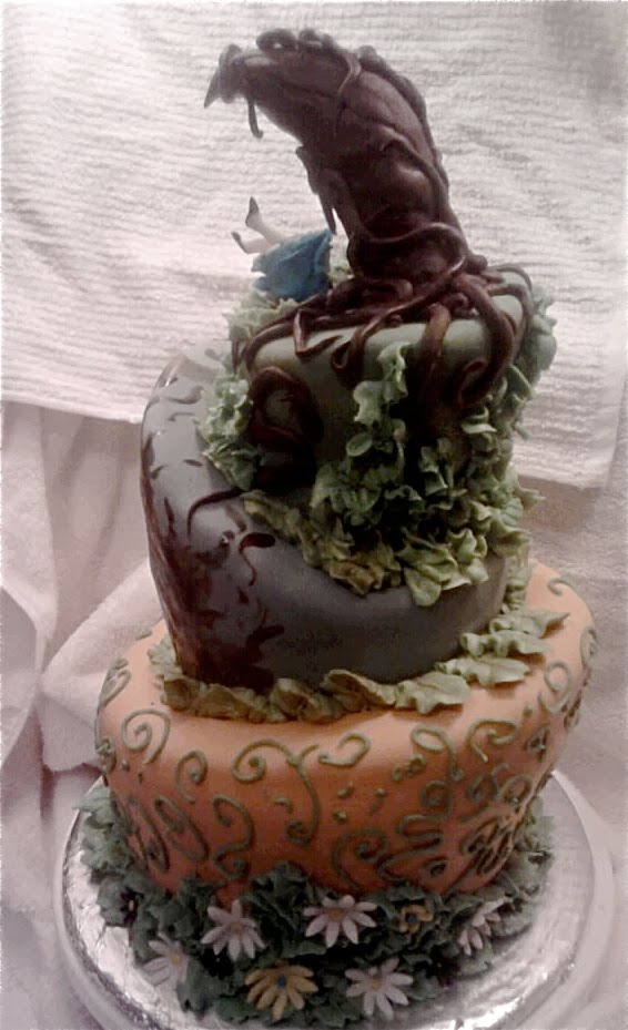 Fondantopia Alice And Wonderland Cake Tim Burton