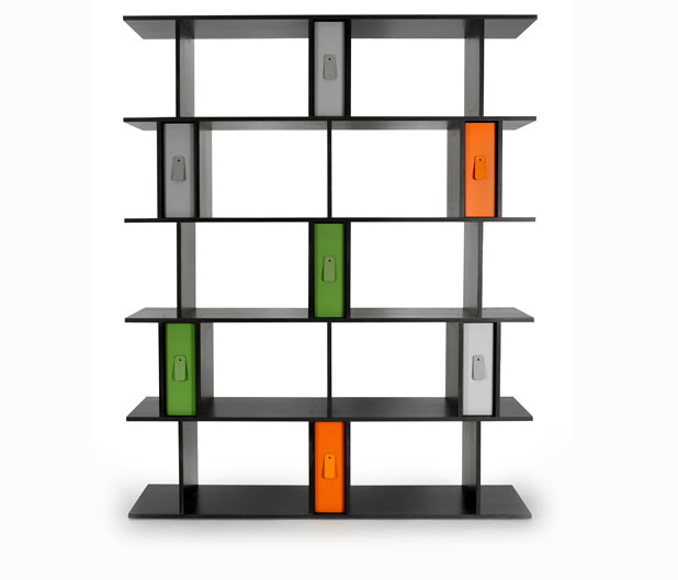 Valchromat Shelving System With Powder Coated Steel Box Files And Leather Pull Tabs Inspired By Brutalist Architecture For Heals Bicentenary