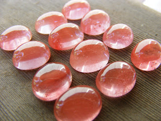 cherry quartz cabochon