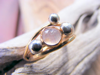 goldfilled stacking ring moonstone sterling silver