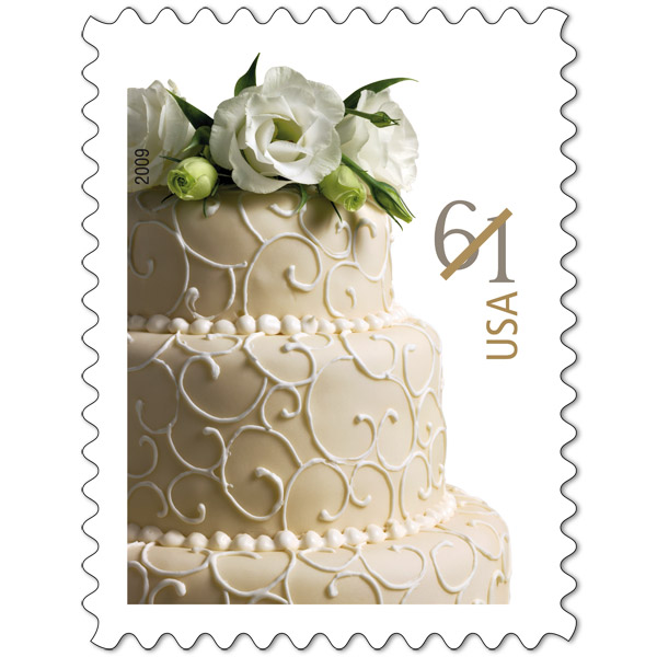 Wedding Cake Stamp  Cents