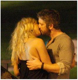 Gerard Butler and Martina Rajic